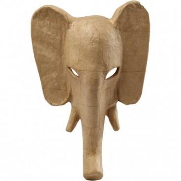 Papier-mache maska słoń