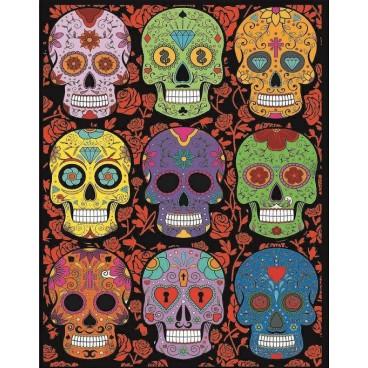 Malowanki Colorvelvet - czaszki
