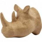 Papier-mache głowa nosorożca