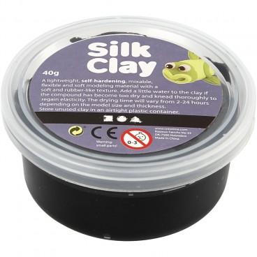 Masa plastyczna Silk Clay czarny 40 g