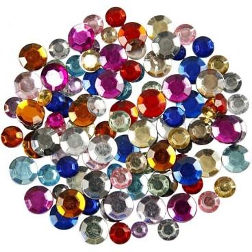 Kryształki różnokolorowe okrągłe