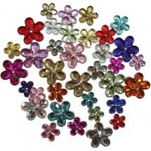 Kryształki różnokolorowe kwiatki