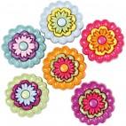 Guziczki kwiatuszki kolorowe