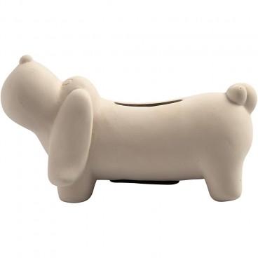 Skarbonka Pies z gliny