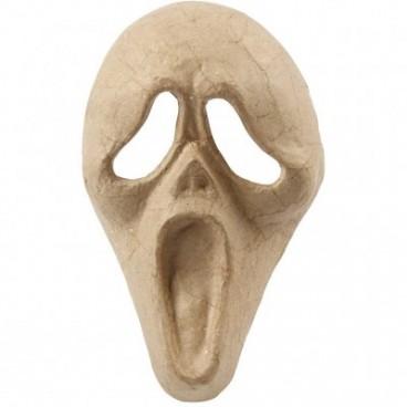 Papier-mache maska krzyk