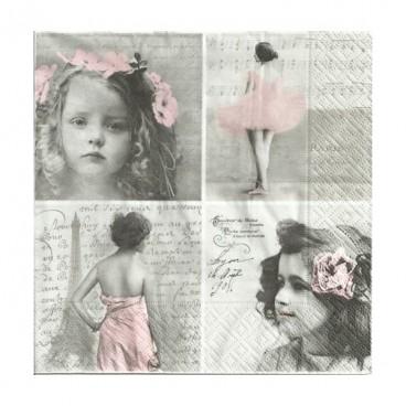 Serwetki vintage na sztuki