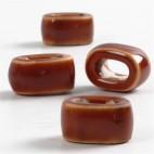 Ceramiczne koraliki płaskie 18 mm