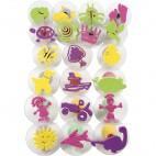 Stemple piankowe z uchwytem dziecięce 4 - 6 cm