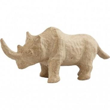 Papier-mache nosorożec