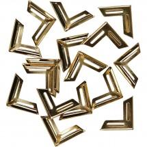 Metalowe rogi do albumów złote 19 x 19 mm