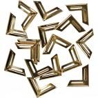 Metalowe narożniki do albumów złote 19 x 19 mm