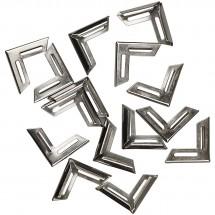 Metalowe rogi do albumów srebrne 19 x 19 mm