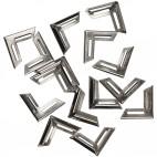 Metalowe narożniki do albumów srebrne 19 x 19 mm