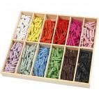 Mini spinacze kolorowe