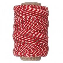 Sznurek czerwono-biały bawełniany