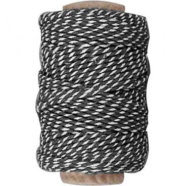 Sznurek czarno-biały bawełniany na metry