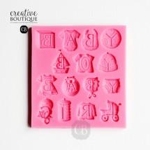 Forma silikonowa 3D Baby napisy