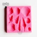Forma silikonowa 3D Muszelki 10 szt.