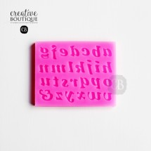 Forma silikonowa 3D Alfabet małe litery