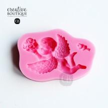 Forma silikonowa 3D Anioł z bukietem róż