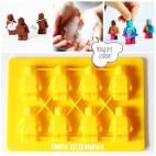 Forma silikonowa ludziki lego 8 sztuk