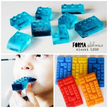 Forma silikonowa klocki lego