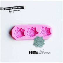 Forma silikonowa 3D 3 x Róże podłużne