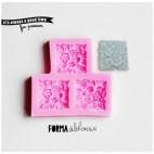 Forma silikonowa 3D 3x Róże kwadratowe