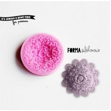 Forma silikonowa 3 D koronka kwiat