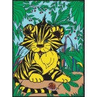 Malowanka Colorvelvet 37 x 28 cm Tygrysek