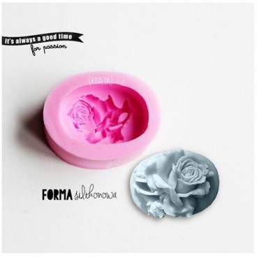 Forma silikonowa 3D Róża (mydło)