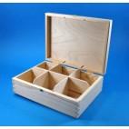 Pudełko na herbatę x6 z zatrzaskiem