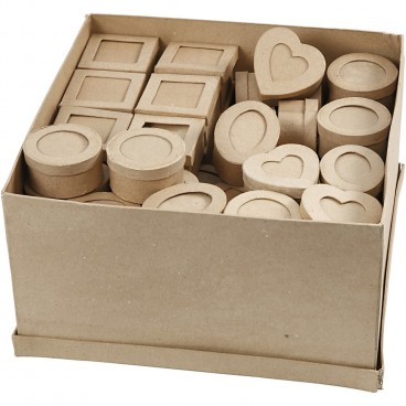 Papier-mache pudełko passepartout