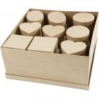 Pudełka z papier mache 10-12 cm