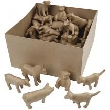 Zwierzęta domowe + miś papier mache