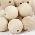 Korale drewniane 30 mm