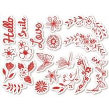 Stempelki do tkanin Kwiaty w łuku
