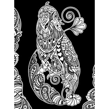 Malowanka Colorvelvet - Papuga