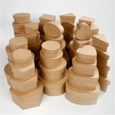 Pudełka z papier mache różne kształty