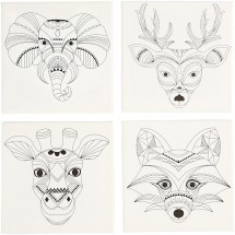Podobrazia szkice zwierząt 20x20 cm