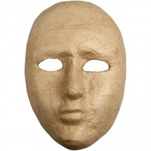 Maska pełna z papier mache