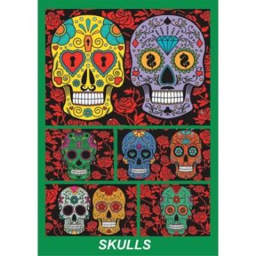 Pudełko Colorvelvet - czaszki