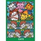 Pudełko Colorvelvet - kotki z włóczką