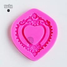 Forma silikonowa 3D Ramka serce