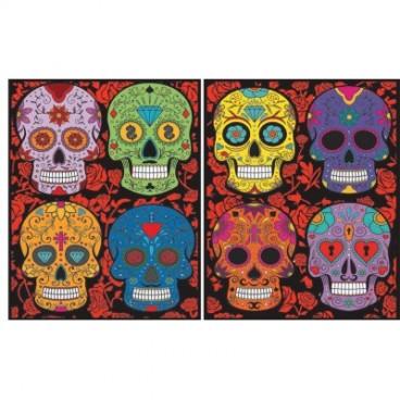 Teczka Colorvelvet - czaszki