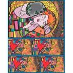 Pudełko COLORVELVET Klimt pocałunek