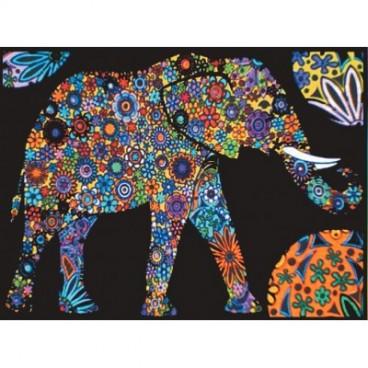 Malowanki Colorvelvet - słoń