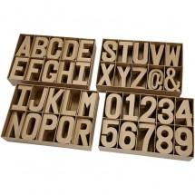 Papier-mache litery i cyfry duże