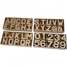 Papier-mache litery i cyfry