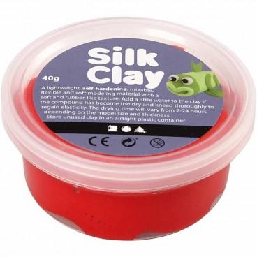 Masa plastyczna Silk Clay czerwony 40 g